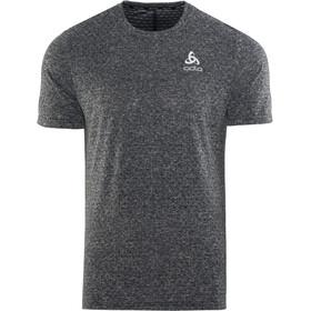 Odlo BL Millennium Linencoo Koszulka do biegania z krótkim rękawem Mężczyźni, black melange
